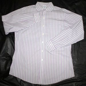 Brooks Brothers 1818 Mens Long Sleeve Button Slim